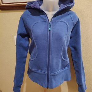 Lululemon Scuba Zip Up Hoodie - Cerulean Blue Sz 6